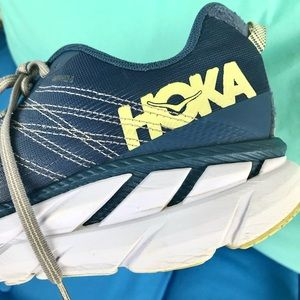 Hoka One One Clifton 6 Running Shoe Gray Blue 9